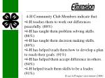 4 h community club members indicate that
