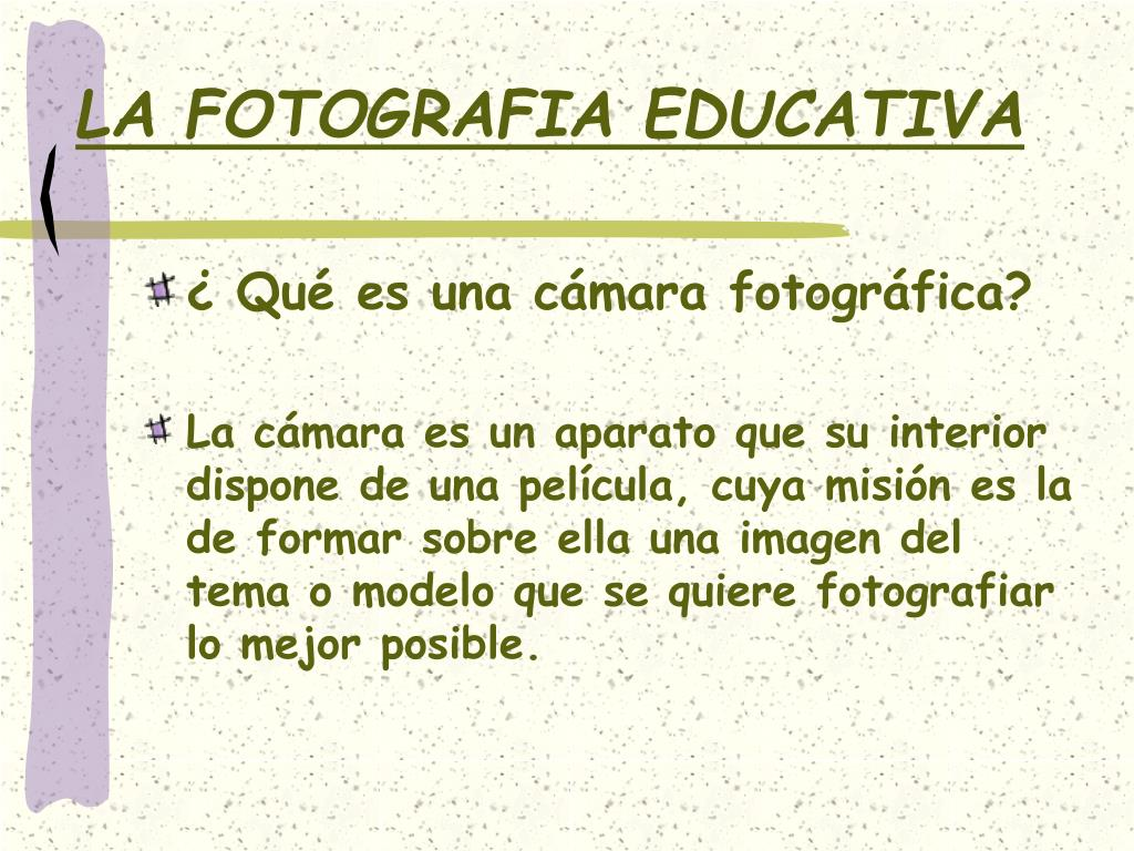 la fotografia educativa l.