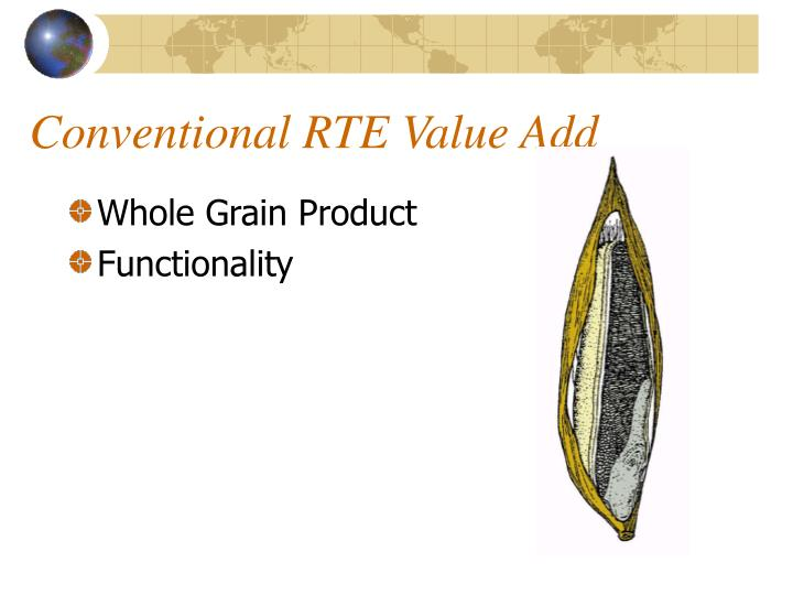Conventional RTE Value Add