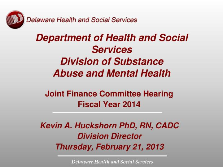 department of health and social services division of substance abuse and mental health n.