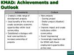 kmad achievements and outlook