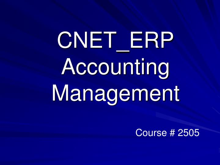 cnet erp accounting management n.