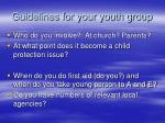 guidelines for your youth group