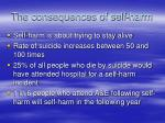 the consequences of self harm