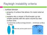 rayleigh instability criteria
