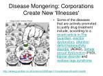 disease mongering corporations create new illnesses