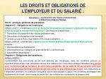 les droits et obligations de l employeur et du salari
