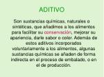 aditivo