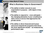 business value meets it value
