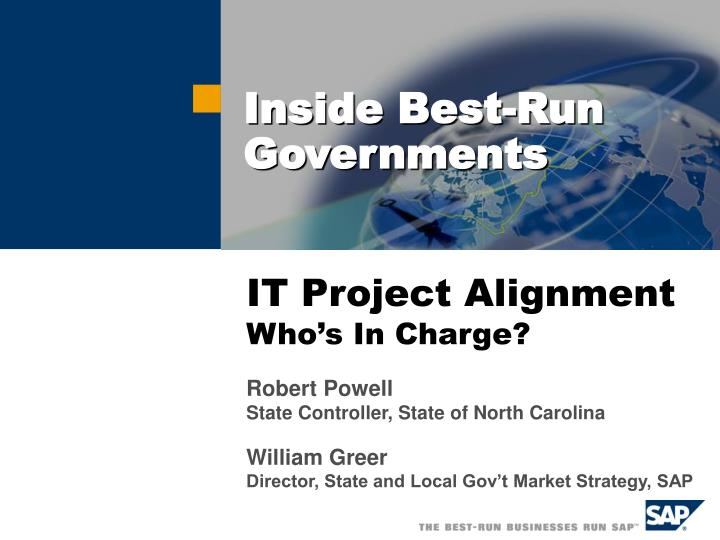 it project alignment who s in charge n.