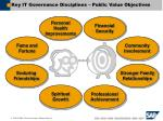 key it governance disciplines public value objectives