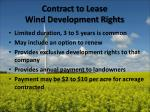 contract to lease wind development rights