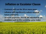 inflation or escalator clause