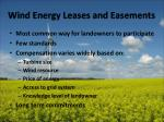 wind energy leases and easements