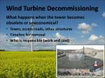 wind turbine decommissioning