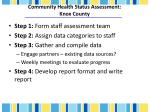 community health status assessment knox county