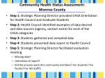 community health status assessment monroe county