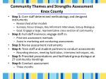community themes and strengths assessment knox county