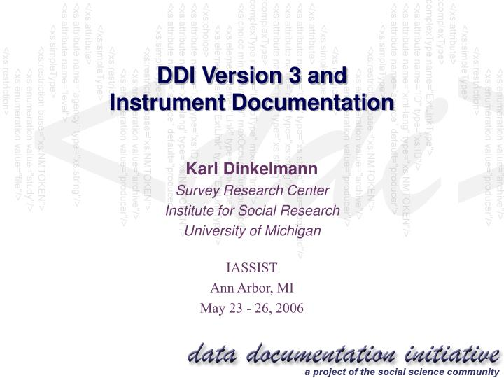 ddi version 3 and instrument documentation n.
