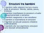 emozioni tra bambini