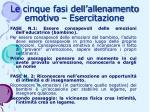le cinque fasi dell allenamento emotivo esercitazione