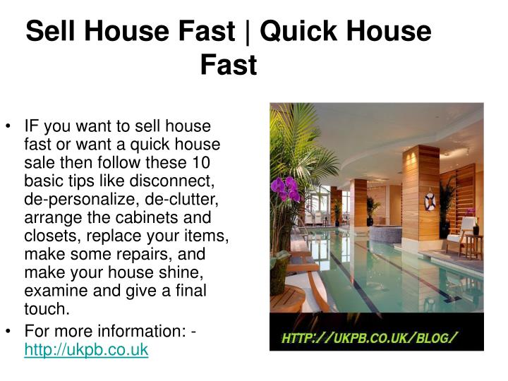 Sell house fast quick house fast