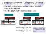 categorical attributes computing gini index