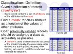 classification definition