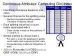 continuous attributes computing gini index