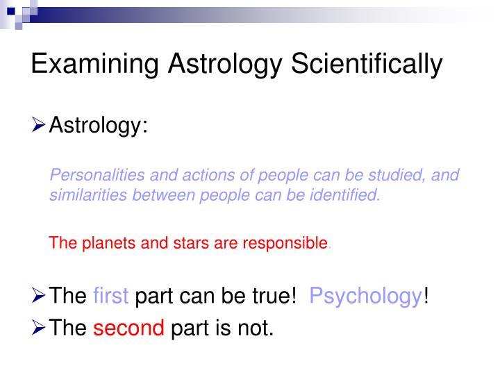 Examining Astrology Scientifically