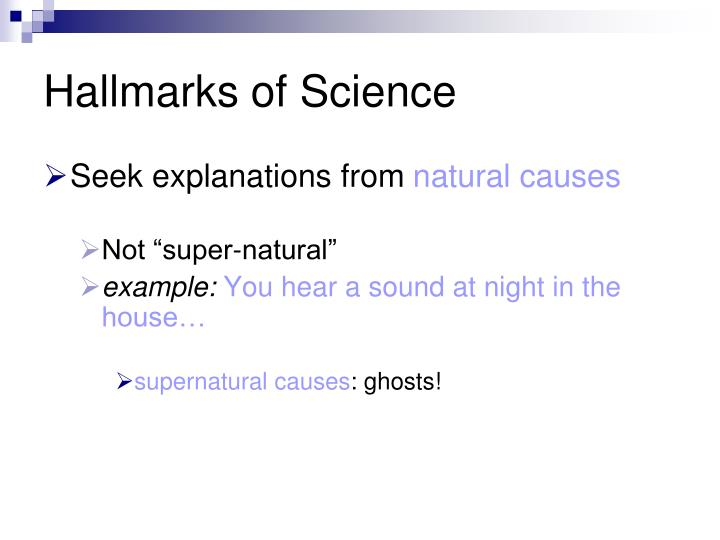 Hallmarks of Science