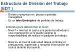 estructura de divisi n del trabajo edt