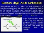 reazioni degli acidi carbossilici