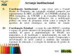arranjo institucional