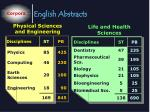 english abstracts