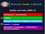 rhetorical moves in abstracts