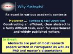 why abstracts