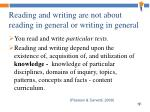 reading and writing are not about reading in general or writing in general1