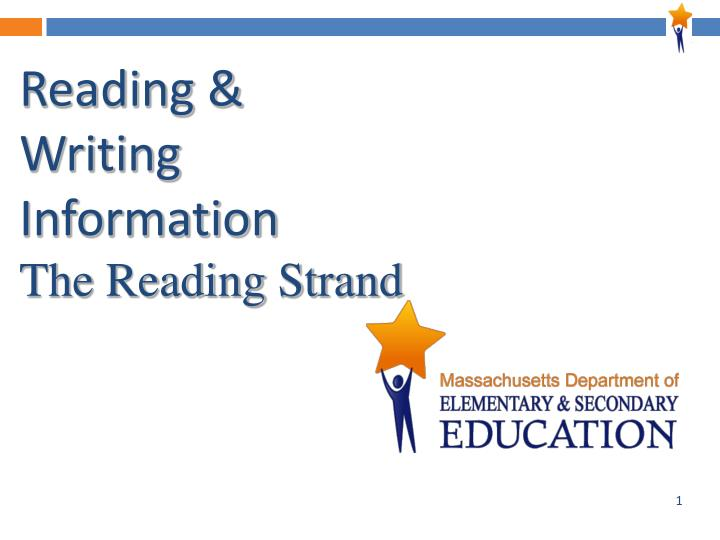reading writing information the reading strand n.
