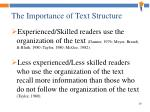 the importance of text structure