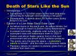 death of stars like the sun