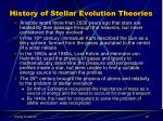history of stellar evolution theories