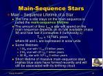 main sequence stars2