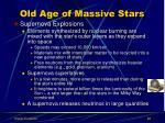 old age of massive stars2
