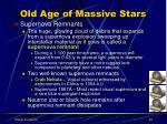 old age of massive stars3