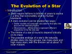 the evolution of a star