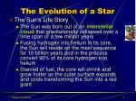 the evolution of a star1
