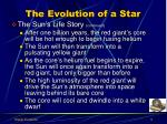 the evolution of a star2