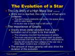 the evolution of a star4