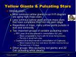 yellow giants pulsating stars